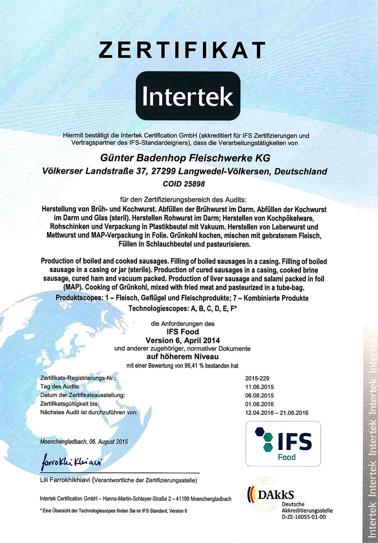 IFS-Zertifikat-2015